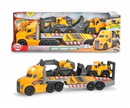 DICKIE Toys Großer Mack Truck mit 2 Volvo Fahrzeugen