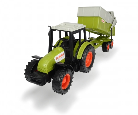 DICKIE Toys TRACTOR CON REMOLQUE CLAAS, 36 CM