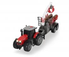 DICKIE Toys TRACTOR MASSEY FERGUSON CON LUZ Y SONIDO 42 CM