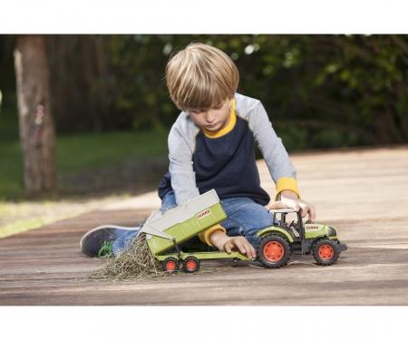 DICKIE Toys TRACTOR CON REMOLQUE CLAAS, 57 CM