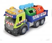 DICKIE Toys CAMIÓN ACTION MERCEDES RECICLAJE LUZ Y SONIDO 26 CM