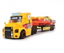 DICKIE Toys CAMIÓN TRAILER SEA RACE LUZ Y SONIDO 41 CM