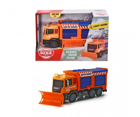 DICKIE Toys Scania Snow Plow Truck