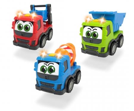 DICKIE Toys CAMIONES VOLVO 13 CM CON LUZ Y SONIDO, 3 MODELOS