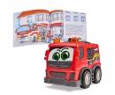DICKIE Toys Set aus Sachbuch und Fahrzeug: Feuerwehr