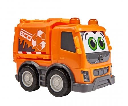 DICKIE Toys Set aus Sachbuch und Fahrzeug: Müllabfuhr