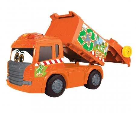 DICKIE Toys Happy Garbage Collector Müllfahrzeug