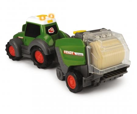 DICKIE Toys TRACTOR FENDT CON EMPACADORA 30 CM