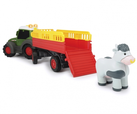 DICKIE Toys TRACTOR FENDT TRAILER ANIMALES 30 CM