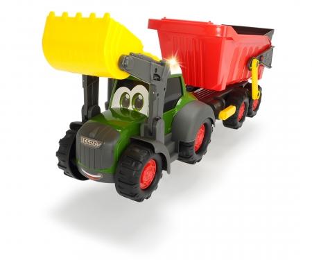 DICKIE Toys TRACTOR CON REMOLQUE, LUZ Y SONIDO, 65 CM