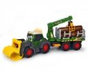 DICKIE Toys Tractor Forestal 65 cm con luz y sonido