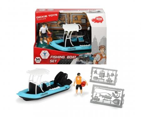 DICKIE Toys Playlife Fishing Boat Set