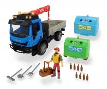 DICKIE Toys VEHICULO RECOGIDA CONTENEDORES 29 CM