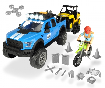 DICKIE Toys SET TODOTERRENO FORD RAPTOR XL, 38CM