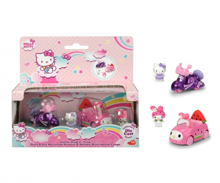 DICKIE Toys Hello Kitty Macaroon + Melody Watermelon