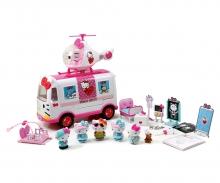 DICKIE Toys HELLO KITTY - PLAYSET HELICÓPTERO CON AMBULANCIA Y FIGURAS