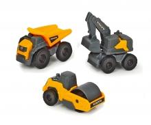 DICKIE Toys SET 3 VEHÍCULOS CONTRUCCIÓN VOLVO MICRO 9 CM (2 TIPOS)