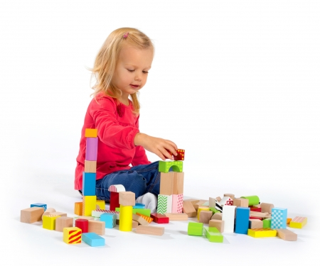 eichhorn Eichhorn Color, Wooden Building Blocks