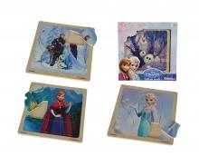 Frozen Einlegepuzzle, 4-sort.