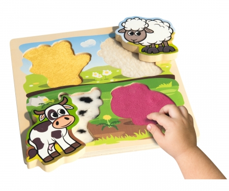 eichhorn Eichhorn Feel-Puzzle with Fabric, 5 pcs.