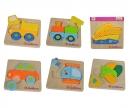 eichhorn Eichhorn Mini Puzzle, Fahrzeuge, 6-sort.
