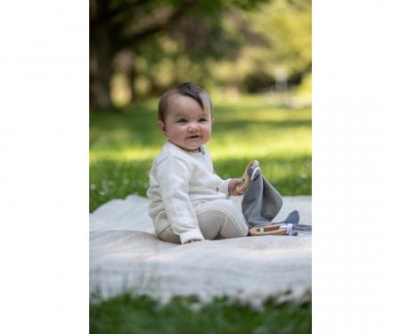 eichhorn Eichhorn Baby Pure Greifling mit Schmusetuch