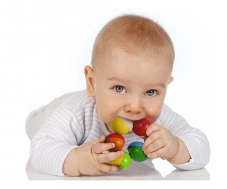eichhorn Eichhorn Baby, Grasping Toy Half Beads