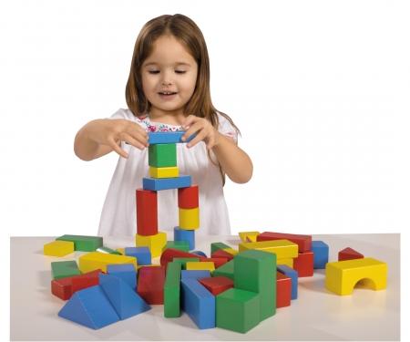 Eichhorn Coloured Wooden Blocks Baby