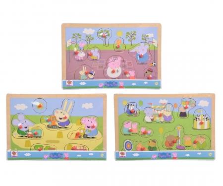 eichhorn Peppa Pig, Steckpuzzle, 3-sort.