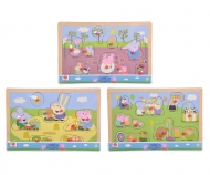 eichhorn Peppa Pig, Pin Puzzle, 3-ass.