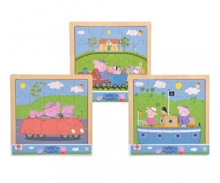 eichhorn Peppa Pig, Einlegepuzzle, 3-sort.