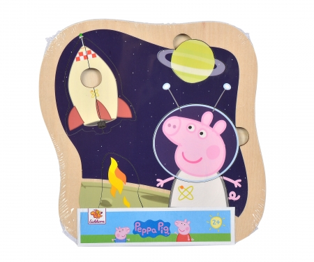 eichhorn Peppa Pig Steckpuzzle, 3-sort.