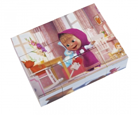 Masha and the Bear Picture Cubes