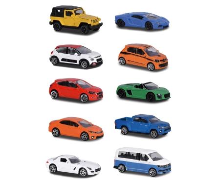majorette Rueda con 10 coches 1:64