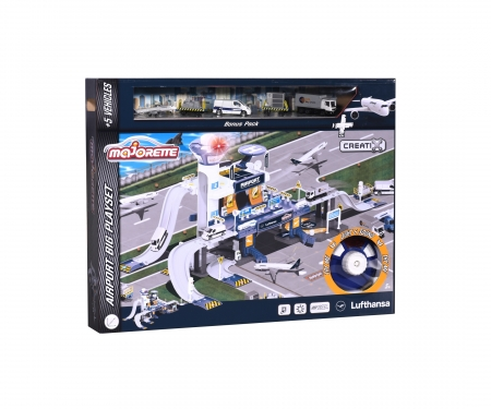 majorette Creatix Lufthansa Airport + 5 vehicles