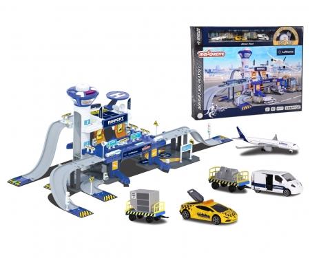 majorette Creatix Lufthansa Airport + 5 Fahrzeuge
