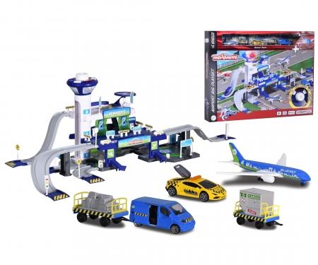 majorette Set Aeropuerto luz y sonido con 5 vehículos