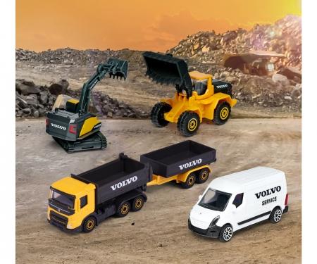 majorette Creatix Construction Playset + 5 Volvo vehicles