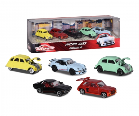 majorette Gift Pack 5 coches Vintage