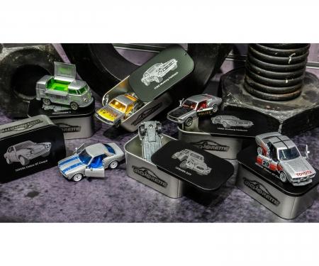 majorette 6 er Set - Vintage Deluxe Cars mit Metall-Unterboden und Metallbox zum Sammeln