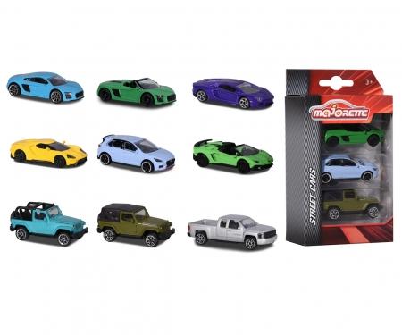 majorette Street Cars 3 Pieces Set, 3-fach sortiert