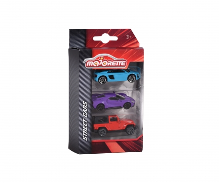 majorette Street Cars 3 Pieces Set, 3-assorted