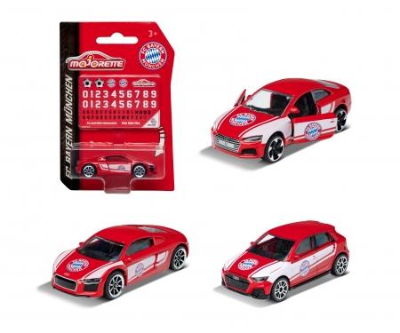 majorette FC Bayern München Premium Car inkl. Sammelkarte (Zufallsauswahl am Lager - Lieferung 1 Stück)