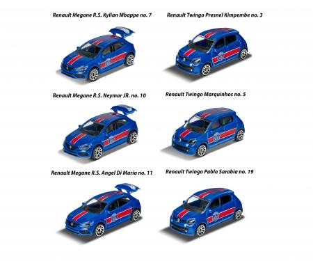 majorette Paris Saint-Germain Premium Car inkl. Sammelkarte (Zufallsauswahl am Lager - Lieferung 1 Stück)