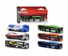 majorette MAN City Bus + MAN TG X Truck, 6-fach sortiert
