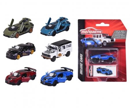 majorette Deluxe Cars mit Sammelbox, 6-fach sortiert