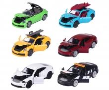 majorette Porsche Deluxe Cars, 6-sort.