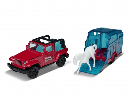 majorette Jeep Wrangler mit Pferdeanhänger