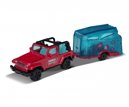majorette Jeep Wrangler with Horse Trailer