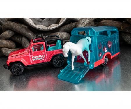 majorette Jeep mit Pferdeanhänger und Pferd